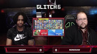 Glitch 6 SSBU - Archy (Young Link, Diddy Kong) VS Bonesaw (King K. Rool) Smash Ultimate Pools