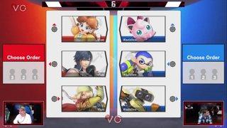 Glitch 6 SSBU - Vinne VS AMG | 8BitMan - Smash Ultimate Squad Strike Pools