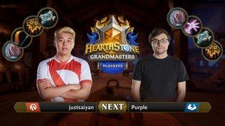 justsaiyan vs Purple - Group 2 Decider - Hearthstone Grandmasters Americas S2 2019 Playoffs