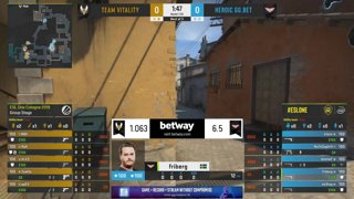 CS:GO - Vitality vs. Heroic [Inferno] Map 2 - Group B - ESL One Cologne 2019