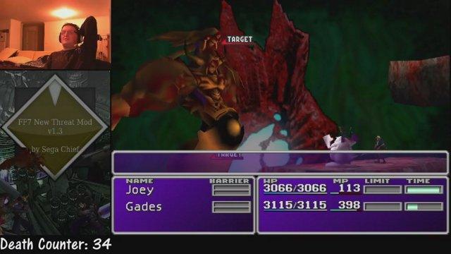 Final Fantasy VII New Threat mod! - Boss #57 - Cloud's New Threat! (Zack!)