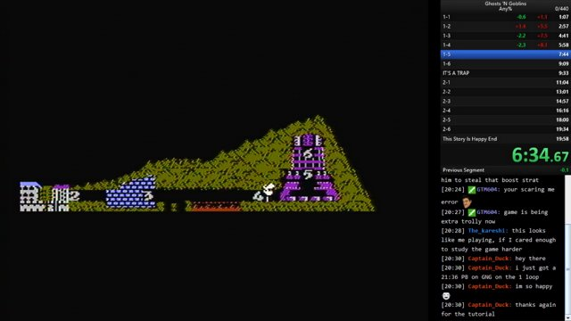 Ghosts 'N Goblins (NES) Any% 2 loops in 19:34