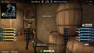 (RU) ESEA MDL S30 EU | Movistar Riders vs Sprout | bo3 | by @AlexeyDeq - map3