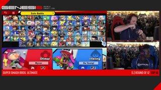 Genesis 6 SSBU - PG | Cosmos (Inkling) VS Myran (Olimar) Smash Ultimate Loser's Top 12