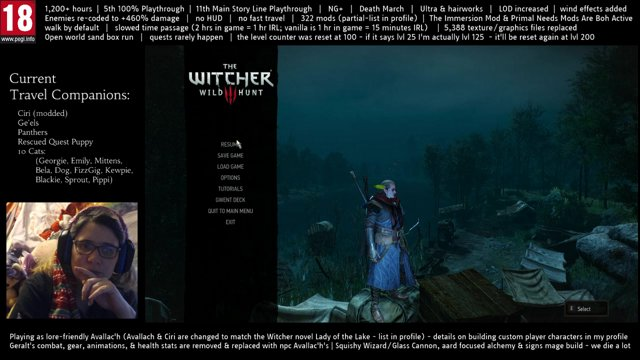 Playing As Avallac'h - 5th 100% Playthrough (11th Time Through Main Story)  - 322 Mods - NG+ Death March Enemies +460% - Custom Combat