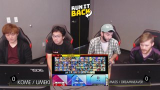 Run It Back - Kome / Umeki (Daisy / Shulk) vs Mass / Dreamweaver (MK / Yoshi) Pool A1 Winners Quarters - Smash Ultimate Doubles