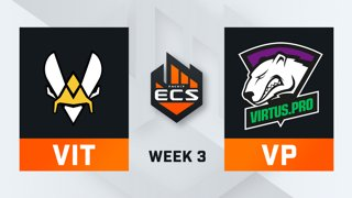 Vitality vs Virtus.Pro - Map 2 - Overpass (ECS Season 7 - Week 3 - DAY1)