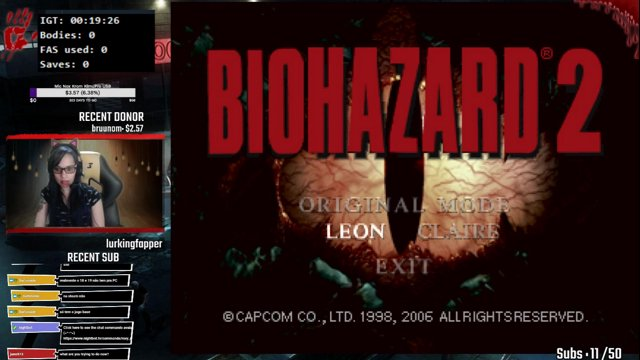Resident Evil 2 - PC Sourcenext - Leon A Any% Normal Speedrun - 53:15