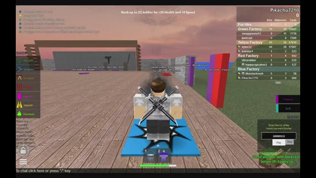 ROBLOX Next Level 2 Player Gun factory Tycoon Challenge