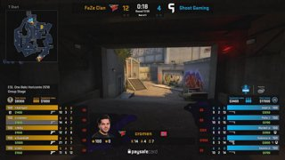 RERUN: FaZe Clan vs. Ghost Gaming [Overpass] Map 1 - Group A Opening Match -  ESL One Belo Horizonte 2018