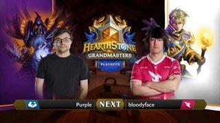 Purple vs bloodyface - Group 2 Initial - Hearthstone Grandmasters Americas S2 2019 Playoffs