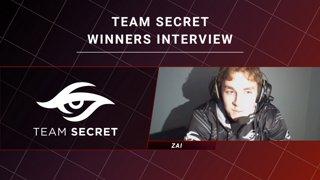 Winners Interview - Team Secret vs Keen Gaming - CORSAIR DreamLeague S11 - The Stockholm Major