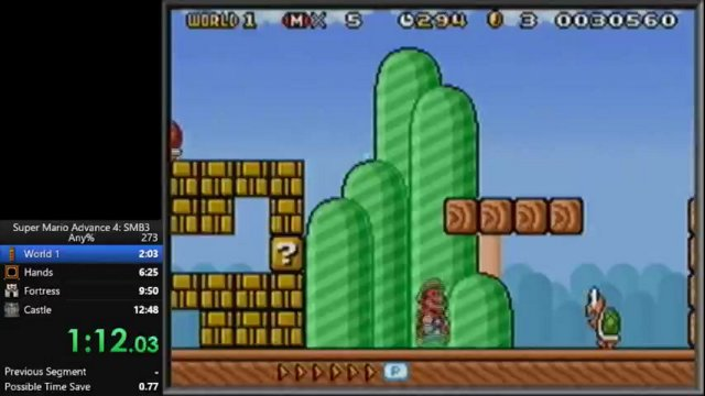 Super Mario Advance 4 12:37 speedrun