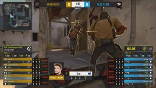 CS:GO - Renegades vs. FaZe [Mirage] Map 1 - Group A - ESL One Cologne 2019