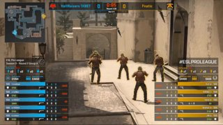 CS:GO - Fnatic vs. HellRaisers [Mirage] Map 1 - Group A - ESL Pro League Season 9 Europe