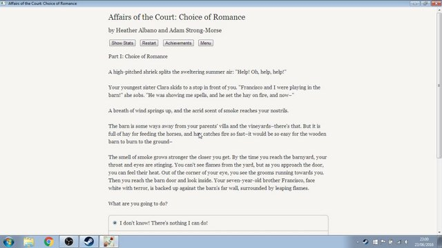 Zarkonnen Affairs Of The Court Choice Of Romance Drinking From