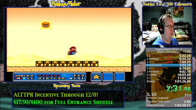 Super Mario Bros 3 Any Warpless Speed Run In 1 01 07