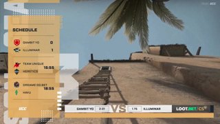 (EN) Gambit Youngsters vs Illuminar | map 2 | Loot.bet/CS Season 3 |  by @oversiard & @VortexKieran