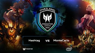 Full: [LIVE-THAI] 🏆 Dota2 Predator League TH Qualifier - 2019 - Hashtag E-Sport vs MonteCarlo (BO3) (18-10-2018)