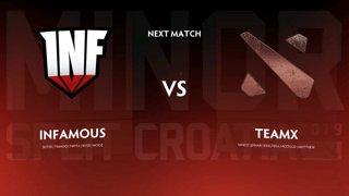 Infamous vs Team X Игра 1
