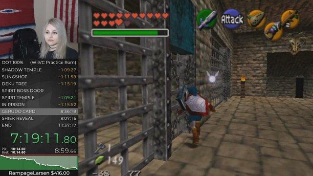 2019-01-11: Zelda Ocarina of Time //100% 10h6m (practice rom)