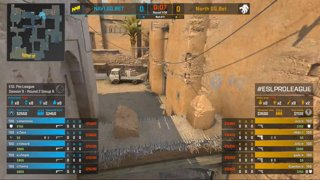 CS:GO - North vs. Natus Vincere [Dust2] Map 3 - Group B - ESL Pro League Season 9 Europe