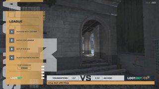 (EN) Youngsters vs Ad hoc | map 1 | Loot.bet/CS Season 3 | by @skrivcasts & @VortexKieran