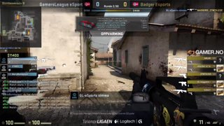Telenorligaen høsten 2015: Counter-Strike: GO Runde 2 - Badger Esport vs. GamersLeague - Kamp 1