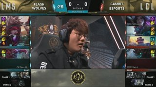 (REBROADCAST) MSI Play-In Knockout: Flash Wolves vs. Gambit Esports