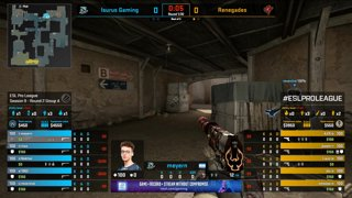 CS:GO - Renegades vs. Isurus [Dust2] Map 2 - Group A - ESL Pro League Season 9 Americas