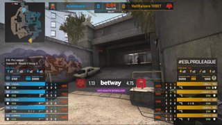 CS:GO - Aristocracy vs. HellRaisers [Overpass] Map 2 - Group A - ESL Pro League Season 9 Europe