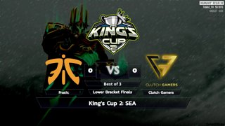 Full: [LIVE-THAI] ⭐ Live 🏆 King's Cup 2: SEA - Fnatic vs Clutch Gamers (BO3) - Cyberclasher