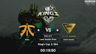 [LIVE-THAI] ⭐ Live 🏆 King's Cup 2: SEA - Fnatic vs Clutch Gamers (BO3) - Cyberclasher
