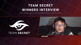 Winners Interview - Team Secret vs Team Liquid - CORSAIR DreamLeague S11 - The Stockholm Major