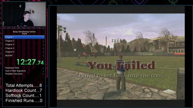 Bully: Scholarship Edition Any% in 3:43:49 (In Game Time)
