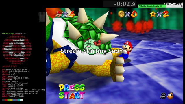 Playing SM64 Chaos 1 5 on M64P Linux (Spoilers: IT CRASHES MORE)
