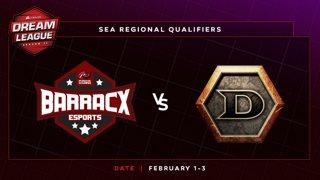 PG.Barracx vs DeToNator Game 1 - DreamLeague S11 SEA Qualifier: Group Stage