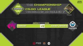 The Championship CS:GO League : Round 7 | Darkest vs Xavier Esports