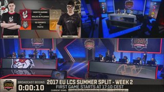 EU LCS Summer 2017 - Week 2 Day 1: Misfits vs. Ninjas in Pyjamas | G2 Esports vs. Fnatic