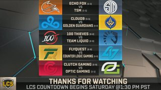 LCS Spring: Week 1 Day 2
