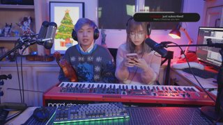 playing some Christmas Carols with Lily :D
