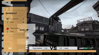 (EN) Team Unique vs HAVU | map 1 | Loot.bet/CS Season 3 |  by @oversiard & @VortexKieran
