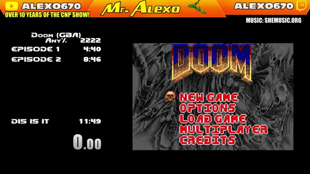 Finally finished DOOM on Gameboy Advance in 13 minutes or