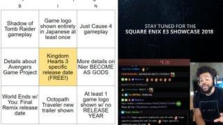 Trihex E3 2018 Shitpost Bingo - Square Enix