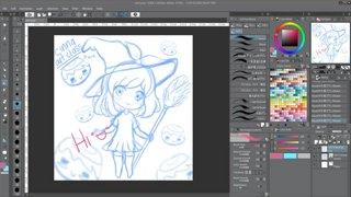 Highlight: [CINNA DO NOT WATCH] working on stuff for art class uwu
