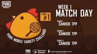 PUBG Mobile Variety Challenge #1 Event Week 1