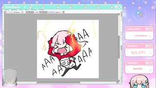 Clip: drawing a dumby kitty uwu