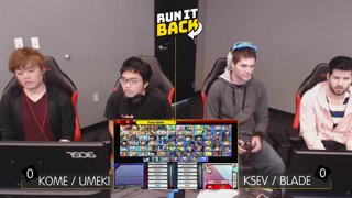 Run It Back - Kome / Umeki (Daisy / Shulk) vs Ksev / Blade (YL / Snake) Winners Semis - Smash Ultimate Doubles