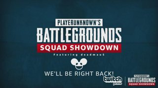 Player Unknown's Battlegrounds Squad Showdown powered by Twitch Prime