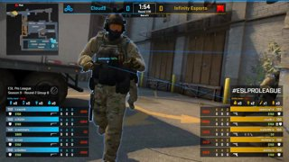 CS:GO - Cloud9 vs. Infinity [Train] Map 1 - Group B - ESL Pro League Season 9 Americas